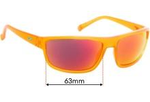 Sunglass Fix Replacement Lenses for Arnette Borrow AN4259 - 63mm wide