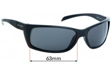 Sunglass Fix Replacement Lenses for Arnette Frenzy AN4101  - 63mm wide