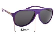 Arnette Highlife AN4134 Replacement Sunglass Lenses - 62mm Wide