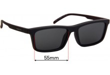 Sunglass Fix Replacement Lenses for Arnette Hypno AN4274 - 55mm wide