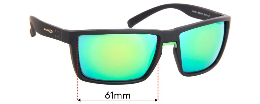 Arnette Prydz 4253 Replacement Sunglass Lenses - 61mm Wide