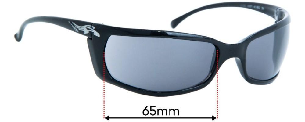 Sunglass Fix Replacement Lenses For Arnette Slide AN4007 - 65mm Wide
