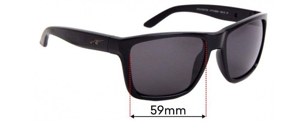 Arnette Witch Doctor AN4177 Replacement Sunglass Lenses - 59mm Wide