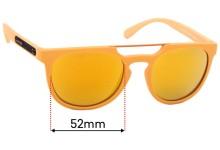 Sunglass Fix Replacement Lenses for Arnette Woodward AN4237 - 52mm Wide