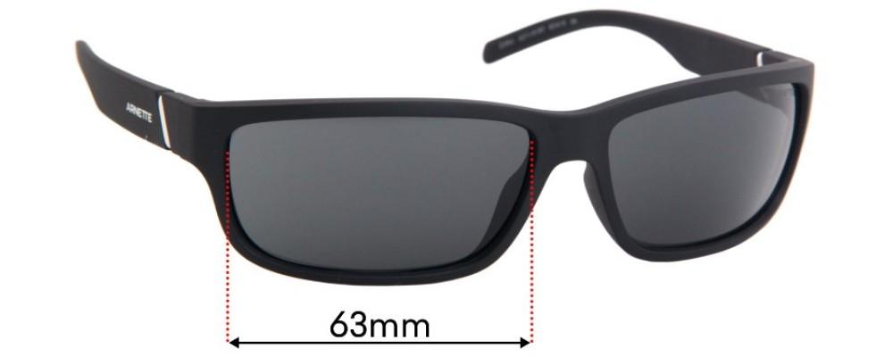 Arnette Zoro AN4271 Replacement Sunglass Lenses - 63mm Wide