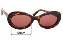 Auor Paloma Replacement Sunglass Lenses - 51mm wide