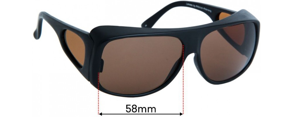 Sunglass Fix Replacement Lenses for Australian Cancer Society 9601LK - 58mm wide