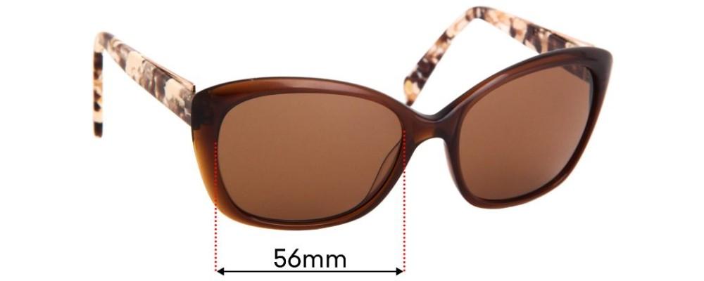 Balmain BL1526S Sun Rx Replacement Sunglass Lenses - 56mm Wide