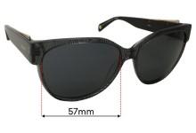 Balmain BL1528S Sun Rx Replacement Sunglass Lenses - 57mm Wide