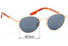 Sunglass Fix Replacement Lenses for Barton Perreira Fitzgerald - 47mm Wide