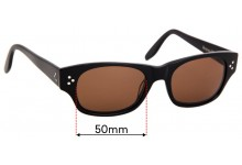 Sunglass Fix Replacement Lenses for Benjamin Whatts Workaholic Raven - 50mm Wide