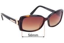 Sunglass Fix Replacement Lenses for Bill Bass Zara 25423 - 56mm Wide