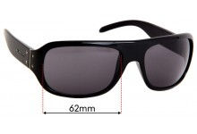 Burberry B 4031 Replacement Sunglass Lenses - 62mm Wide