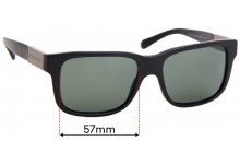 Sunglass Fix Replacement Lenses for Burberry B 4170 - 57mm Wide