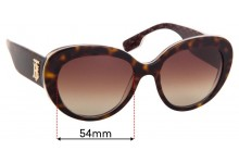 Sunglass Fix Replacement Lenses for Burberry B 4298 - 54mm Wide