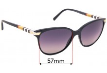 Sunglass Fix Replacement Lenses for Burberry B 4216 - 57mm Wide