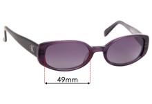 Calvin Klein 4022 Replacement Sunglass Lenses - 49mm wide