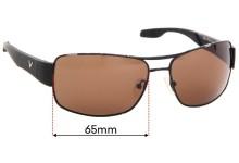 Callaway C80004 Replacement Sunglass Lenses - 65mm Wide