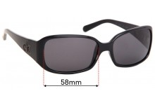 Calvin Klein CK3065S Replacement Sunglass Lenses - 58mm Wide
