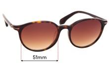 Calvin Klein CK5833KS  Replacement Sunglass Lenses - 51mm wide