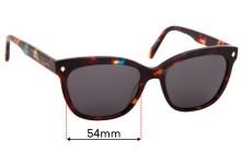 Sunglass Fix Replacement Lenses for Carla Zampatti C Zampatti 01 - 54mm Wide