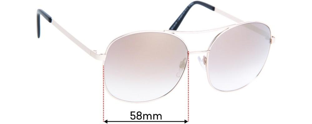 Sunglass Fix Replacement Lenses for Carla Zampatti Sun Rx 11 - 58mm Wide