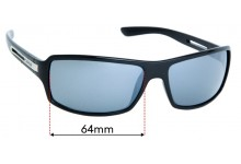 Sunglass Fix Replacement Lenses for Carve Greed- 64mm Wide