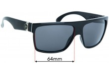 Sunglass Fix Replacement Lenses for Carve Onyx -  64mm wide
