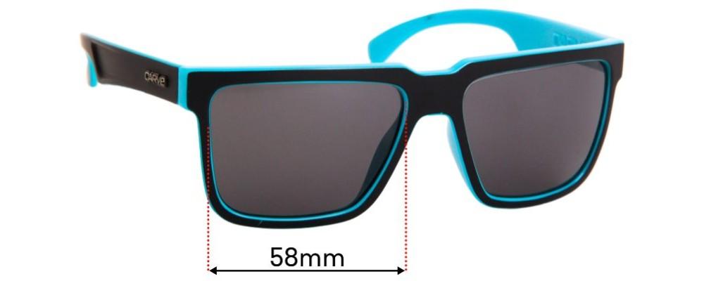 Sunglass Fix Replacement Lenses for Carve Phenomenon - 58mm Wide