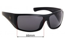 Sunglass Fix Replacement Lenses for Carve Wolf Pak - 66mm Wide