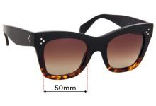 Celine CL 41090/S Replacement Sunglass Lenses - 50mm Wide