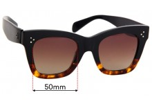 Sunglass Fix Replacement Lenses for Celine CL 41098/F/S - 50mm Wide