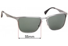 Sunglass Fix Replacement Lenses for Chilli Beans - 55mm Wide x 41mm High