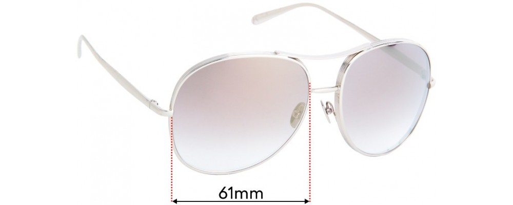Chloe CE127S Replacement Sunglass Lenses - 61mm wide