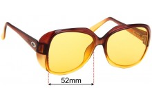Christian Dior 2033 Replacement Sunglass Lenses - 52mm Wide