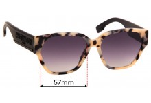 Sunglass Fix Replacement Lenses for Christian Dior ID1 - 57mm Wide