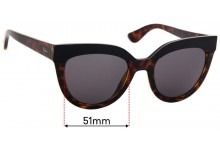 Sunglass Fix Replacement Lenses for Christian Dior Soft 1 - 51mm Wide