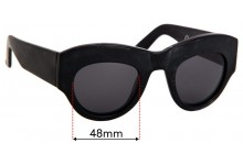 Chronicles of Never The Origin of Vastus Replacement Sunglass Lenses - 48mm Wide