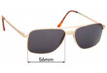 Clarity C4758 Replacement Sunglass Lenses - 56mm Wide