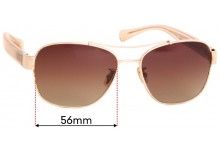 Coach HC 7064 Replacement Sunglass Lenses 56mm wide