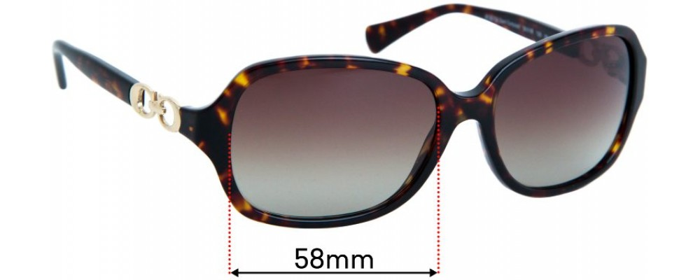 Sunglass Fix Replacement Lenses for Coach HC8146  - 58mm wide