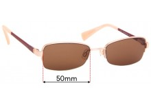 Sunglass Fix Replacement Lenses for Cole Haan CH5003 - 50mm Wide
