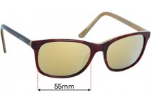 Collette Dinnigan Sun Rx 10 Replacement Sunglass Lenses - 55mm Wide