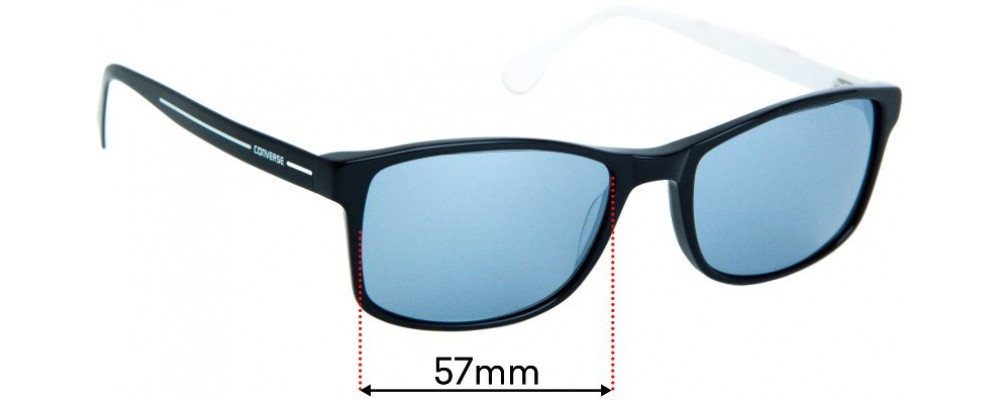 Sunglass Fix Replacement Lenses for Converse 42  - 57mm wide