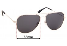 Country Road CR Sun Rx 33 Replacement Sunglass Lenses - 58mm Wide