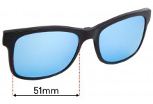 Crack TJ003 Clip on Replacement Sunglass Lenses - 51mm Wide