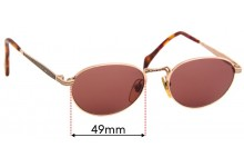 Sunglass Fix Replacement Lenses for Dakota Smith 1061 Oklahoma - 49mm Wide