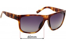 Sunglass Fix Replacement Lenses for D'Blanc 1 Chord Wonder - 60mm wide