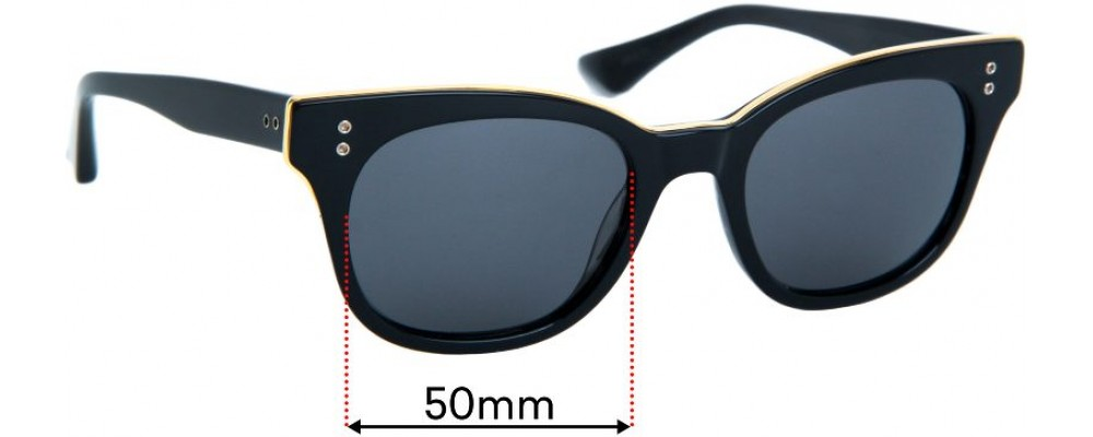 Sunglass Fix Replacement Lenses for Dita Rhythm  - 50mm wide