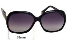Dolce & Gabbana DD3077  Replacement Sunglass Lenses - 58mm wide